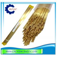 China Double Channel  EDM Electrode Pipe / Brass Tube For EDM Drill Machine 0.9x400mm on sale