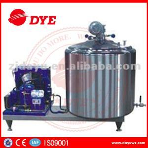 Best DYE 1000L farm used  Vertical Craft milk tank For Bulk Milk, liquid chiller wholesale