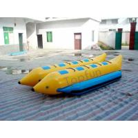 Quality PVC Tube Banana Inflatable Fly Fishing Boats 16 Persons Double Pulled Motorboat wholesale