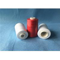 Best Low Shrinkage Strong 100 spun polyester yarn For Jeans / Caps / Handbags Sewing wholesale