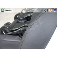 Best Black / Red Genuine Leather 5D Movie Theater , Fiberglass Chair Electronic System wholesale