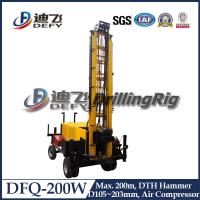 Best DFQ-200W High Efficient Trailer DTH Rock Drill Rig, Portable Drilling Rig Machine for Sale wholesale