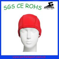 Best Swimming pool or Hotel equipment adult red lycra Swimming cap wholesale