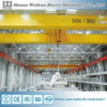 Best workshop used 20 ton capacity Overhead crane with hook wholesale