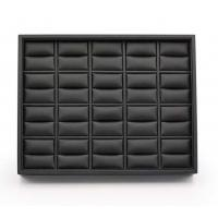 Best Black Leatherette Stackable Jewelry Trays , 20 Rings Jewelry Trays For Dresser Drawers wholesale