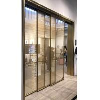 Cheap Sliding Door of Metal Coated Polyester Mesh Glass Laminate for sale