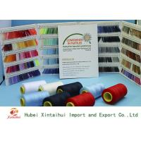 China 30/3 100% Polyester Sewing Yarn / Sewing Machine Yarn With Paper / Plastic Cone on sale