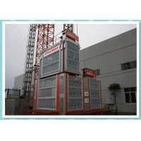Double Cage Rack And Pinion Elevator Hoist Platform For Bridge / Tower