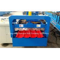 China 5.5Kw Metal Roofing Sheet Roll Forming Machine Electric Control Standing Seam on sale
