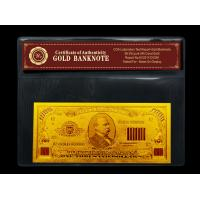 Best 99.9% plated US gold dollar bill $1000 dollars collection with PVC frame wholesale