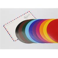 Best Lick - To - Stick Colored Paper Circles , Glossy Construction Paper Circles wholesale