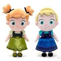 Best Small Girls Disney Plush Toys Elsa And Anna Frozen Baby Dolls 30cm wholesale