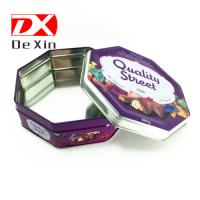 cookie tin box, biscuit tin box,Octagonal shape tin box