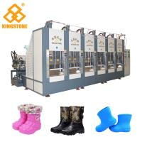 Best Two Stations EVA Rain Boot Making Machine With PLC Touch Screen System wholesale