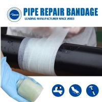 Buy cheap Armored Cast Bandage Emergency Pipe Crack leaking Fix repair wrap  water activated fiberglass tape from wholesalers