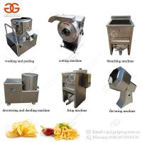 China Semi-Automatic Potato Chips Cutting Blanching Frying Production Line Small Scale French Fries Making Machine on sale
