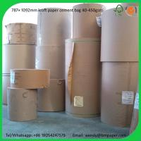 Best BMPAPER 140GSM Recycled White Top Kraft Liner Paper  for cement bags wholesale