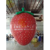 Best Red 3m Height Strawberry Shaped Balloons With Digital Printing For Promotion wholesale