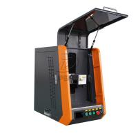 Best Closed Type 20W 110*1100mm Fiber Laser Marking Machine for Metal wholesale