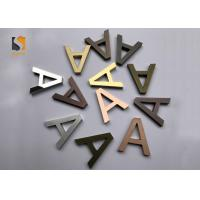 Best Small 3D Shop Sign / Decorative Metal Letters With Finishing Gold , Bronze , Silvery wholesale