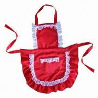 Best Lace lovely cooking apron, made of polyester and cotton wholesale