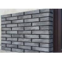 Best 3D408 Acid Resistance Gray Clay Thin Veneer Brick For Decorative Wall wholesale
