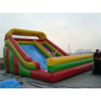 Best Wet / Dry Use Inflatable Slippery Slide , 12m Big Blow Up Water Slides For Rent wholesale