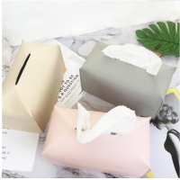 Best BPA Free Fancy Suede PU Leather Tissue Holder For Car wholesale