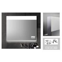 Best Customized LED Illuminated Demister Bathroom Mirror With Clock and calendar wholesale