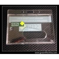 Best Horizontal rigid tranpsarent rigid hard card holder for ID name cards with custom logo wholesale