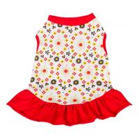 Best red dog dresses summer / chinese dog clothes / dog party dresses wholesale