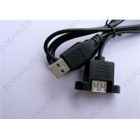 Cheap Black UL2725 A/M To A/F USB Extension Cable For Signal 1000MM Length for sale