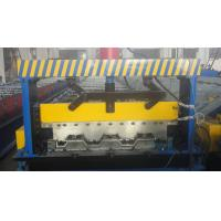 Best Galvanized Steel Floor Deck Roll Forming Machine With Coiler Car ,  Floor Tile Making Machine wholesale