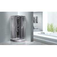 Best Quadrant Shower Cubicles 900 X 900 X 2100 MM Circle Grey ABS Tray Chrome Profiles wholesale