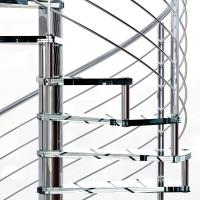 Best Small Space House Used Stainless Steel Glass Spiral Staircase with 12mm Glass Railing wholesale