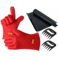 Best Perfect Bear Claw Meat Claws Silicone Oven Gloves With Fingers / Durable Silicone Baking Gloves wholesale