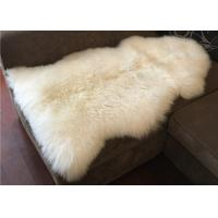 Best Australian Sheepskin Rug , Genuine Australian Sheepskin Rug One Pelt Ivory Natural Fur , Single wholesale