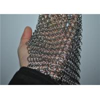 Best Square Stainless Steel Chainmail Scrubber With Non-toxic , Cast Iron Cleaner wholesale