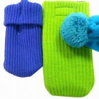 Best Mobile phone socks/cell phone knit covers/bags wholesale