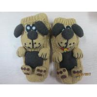 China Fashion Indoor Floor Socks Cozy Stripe Socks--cute dog--knitted Sock with slip dots on sale