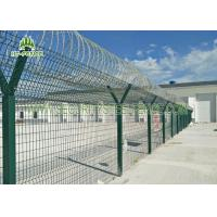 Best Airport Anti - Aging Welded Mesh Fence , Green PVC Coated Wire Mesh Fencing wholesale