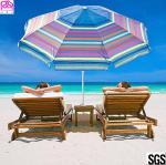 Best 210D Oxford Fabric Waterproof Parasol Umbrella With Aluminum Handle 1.8-3m wholesale