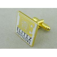Best Customized Personalized Tie Bar For Business Gifts / Hard Enamel Promotional Cufflink wholesale