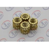 Best High Precision Turned Parts Gear Shape Brass Nuts 0.395*0.435 Inch wholesale