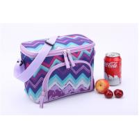 China Purple Wave Print Insulated Promotional Small Lunch Bags Measured 24.5 * 14 * 16cm on sale