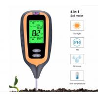 China New 4 IN 1 Digital Soil Moisture Meter PH Meter Temperature Sunlight Tester for Garden Farm Lawn Plant with LCD Display on sale