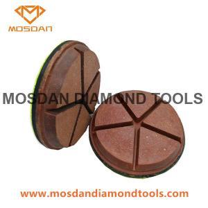 Best 3 Inch 5 Pies Hybrid Copper Bond Diamond Polishing Pads for Concrete wholesale