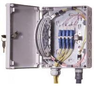 Best IP55 OF Indoor / Outdoor Fiber Termination Box ,8 Fibers Small Optical Termination Box wholesale