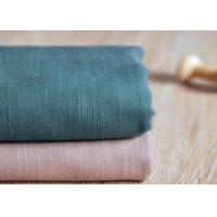 Best Slub Plain 100 Cotton Canvas / Semi - Bleached Dyeing Cotton Fabric wholesale