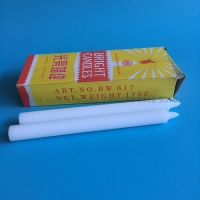 China paraffin wax white bright candle with yellow box on sale